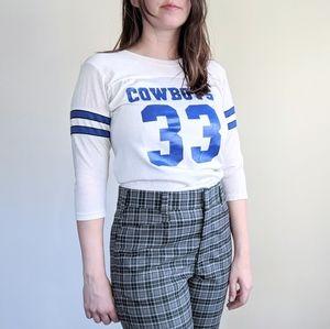 Vtg 70s Cowboys Football Jersey Tee Shirt Top S